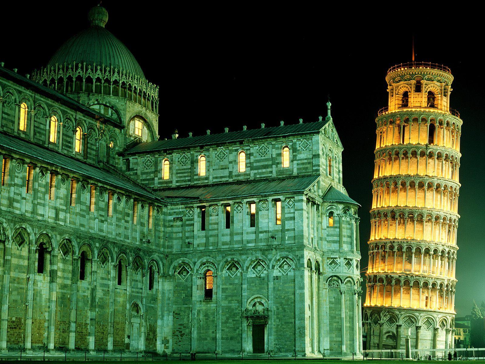 Duomo Leaning Tower Pisa Italy wallpaper
