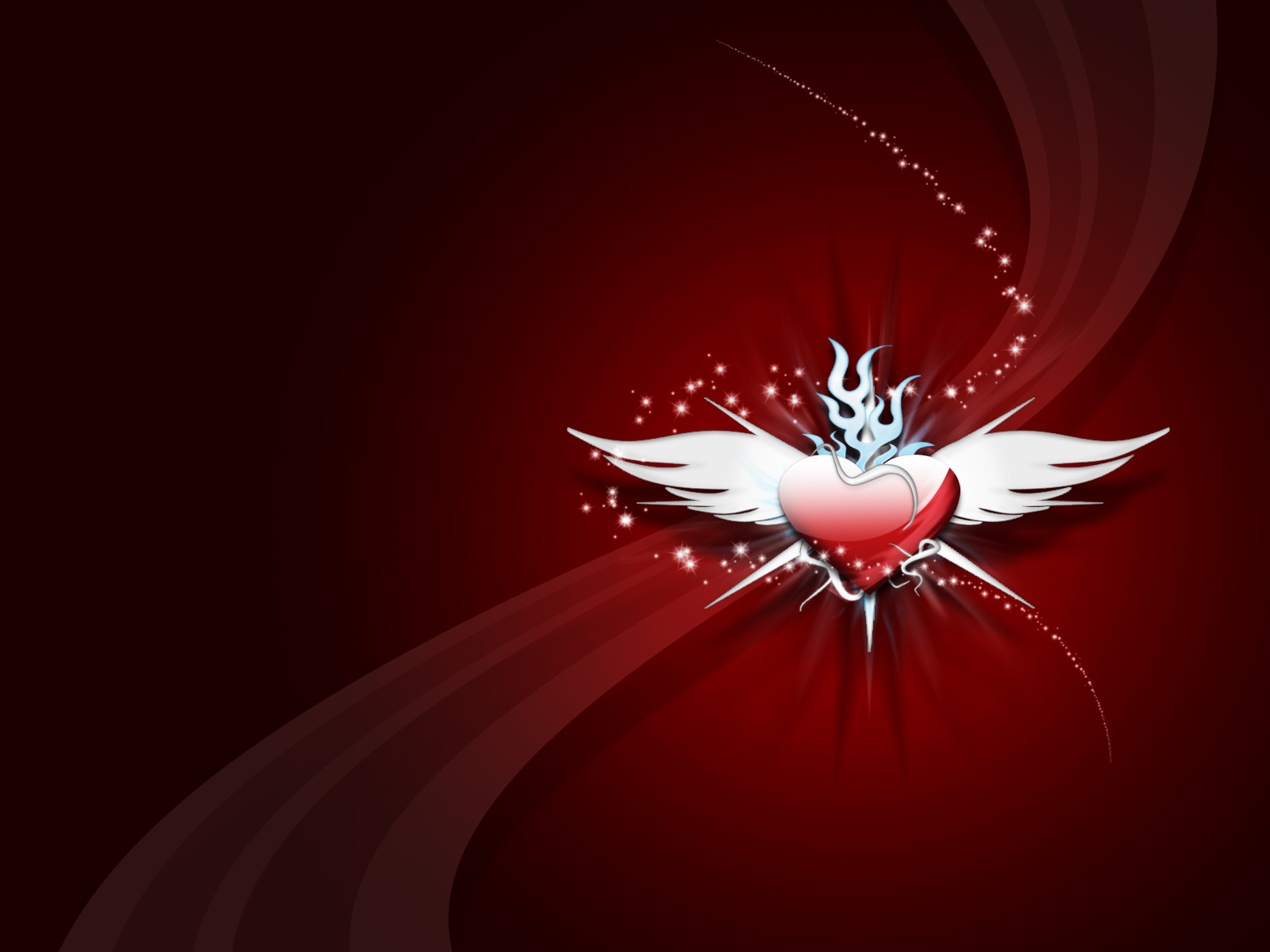 Red Abstract Desktop With Heart Wings 339580 Wallpaper wallpaper