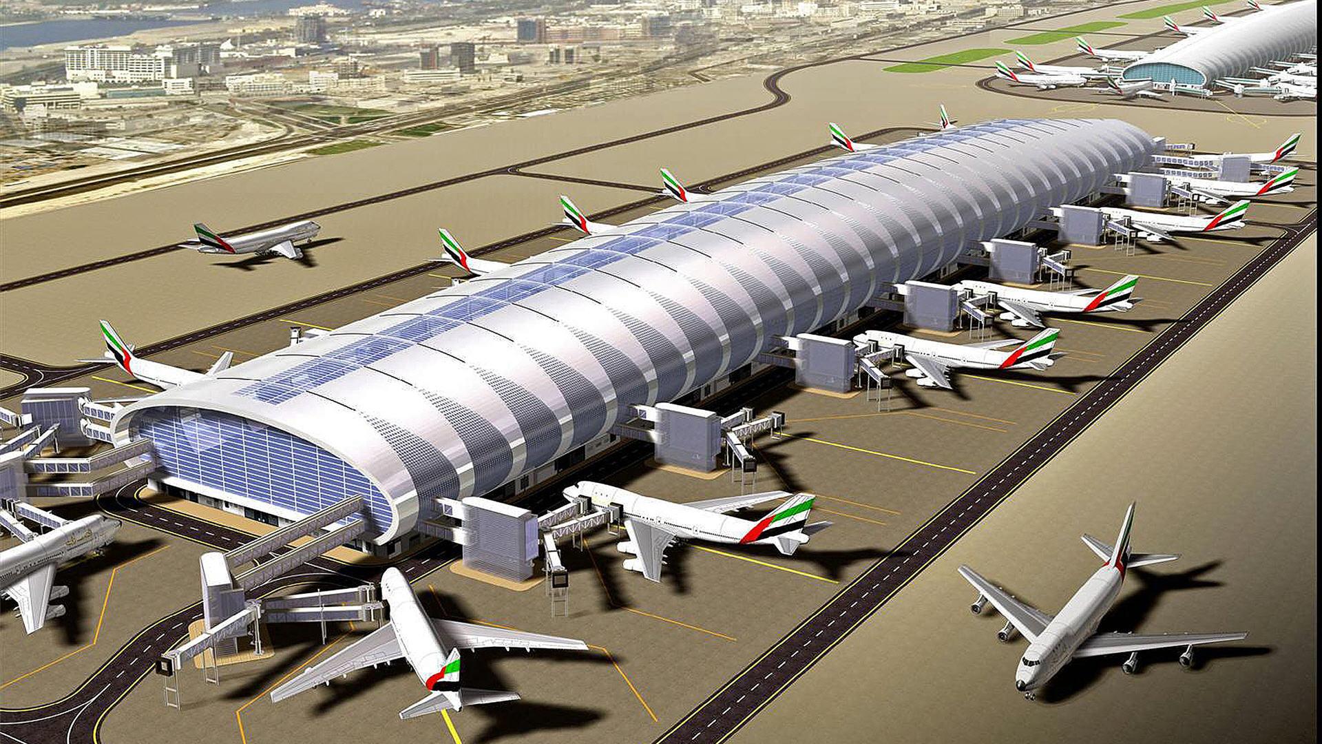 Architecture Free Airports Dubai Internati 490711 Wallpaper