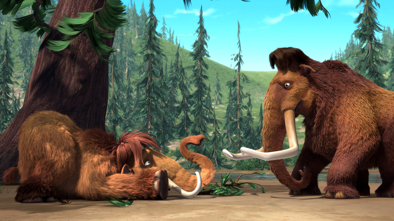 Anime Cartoon Love Hd Ice Age Mammoth On The Pictures D 586529