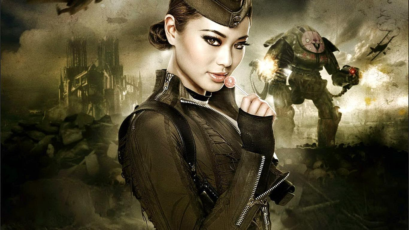 Architecture Woman Warrior Candy War Girl And 152548 Wallpaper wallpaper