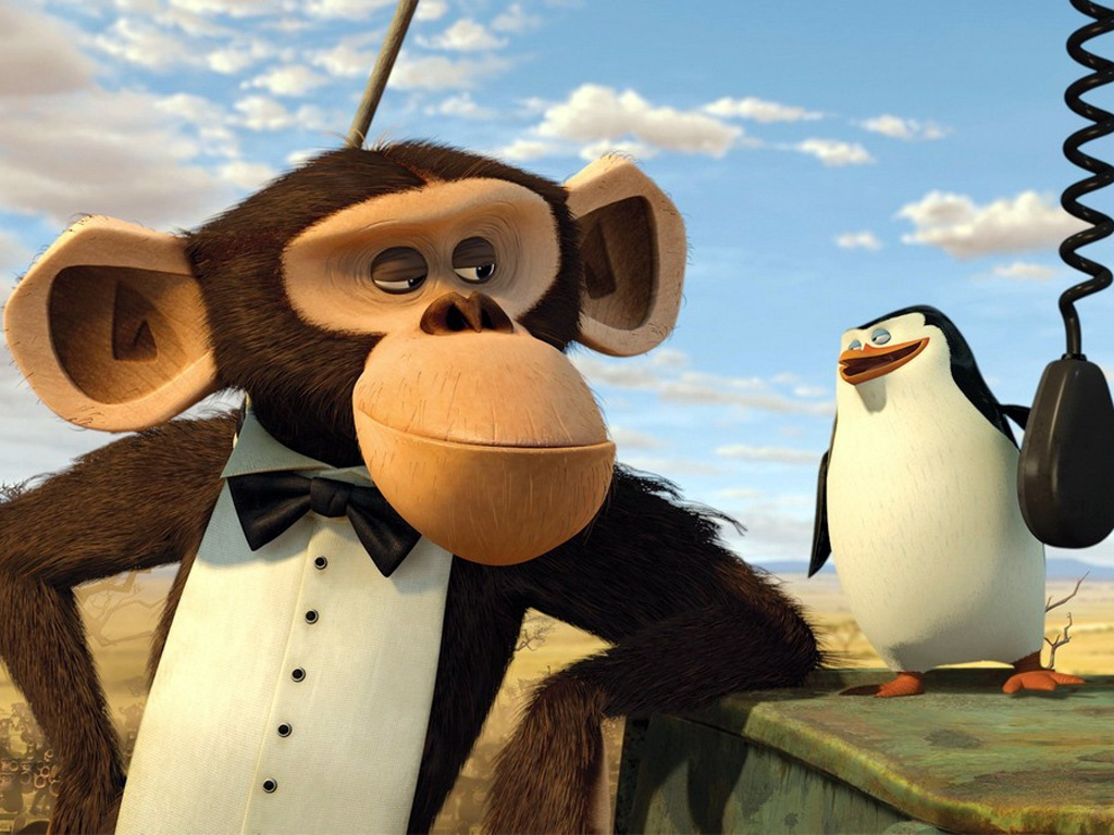 the penguins of madagascar monkey penguin free and pictures 242058