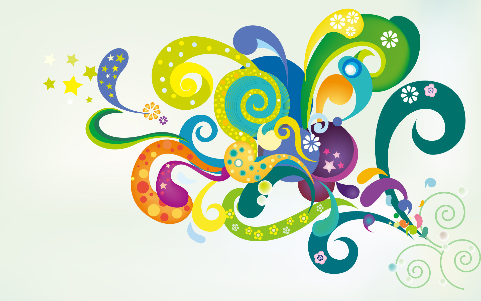 Colorful Abstract Flowers Display 362335 Wallpaper wallpaper
