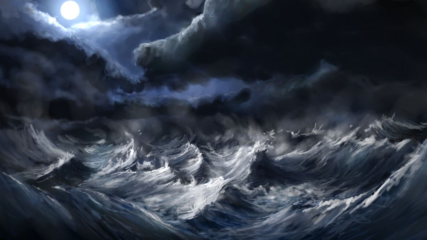 Anime Fantasy Hd Storm Waves The Element On Pictures D 221005 Wallpaper wallpaper