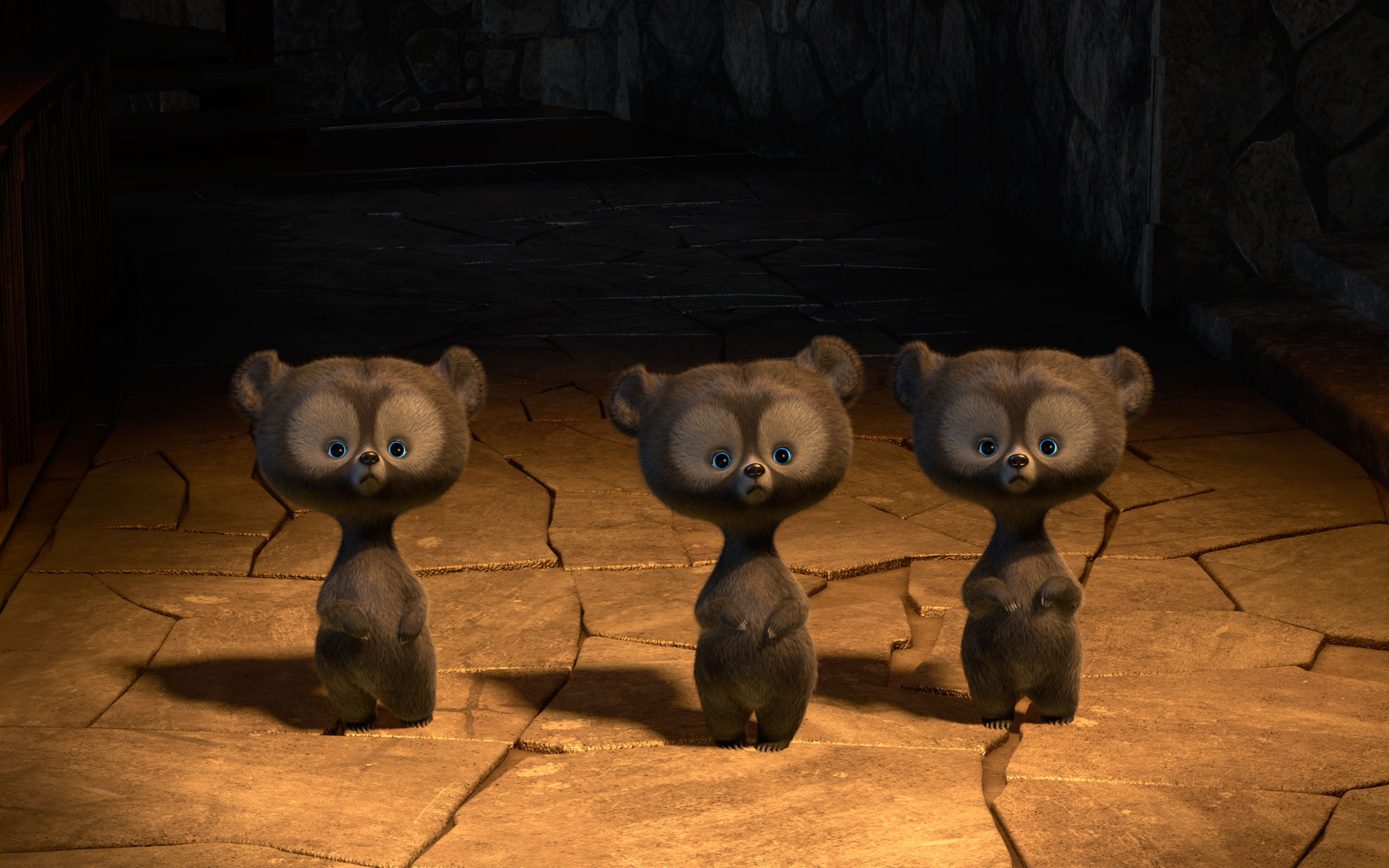 Brave Triplets Bears wallpaper