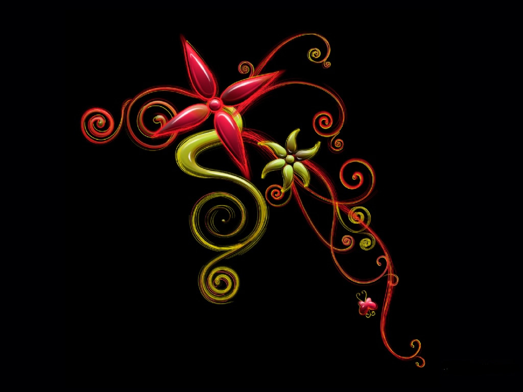 Red Abstract Flower Free 108687 Wallpaper wallpaper