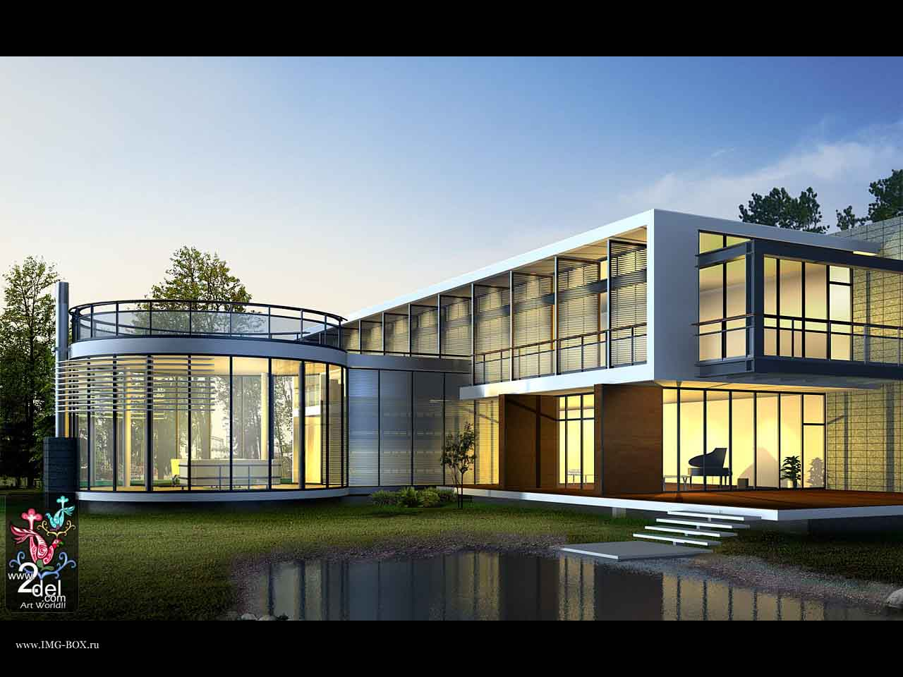 Architecture glass house best on your 112968 wallpaper for Best house wallpaper