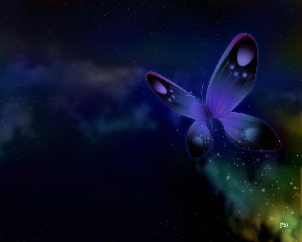 Animal Anime Butterfly Purple Free Puter 114716 Wallpaper wallpaper