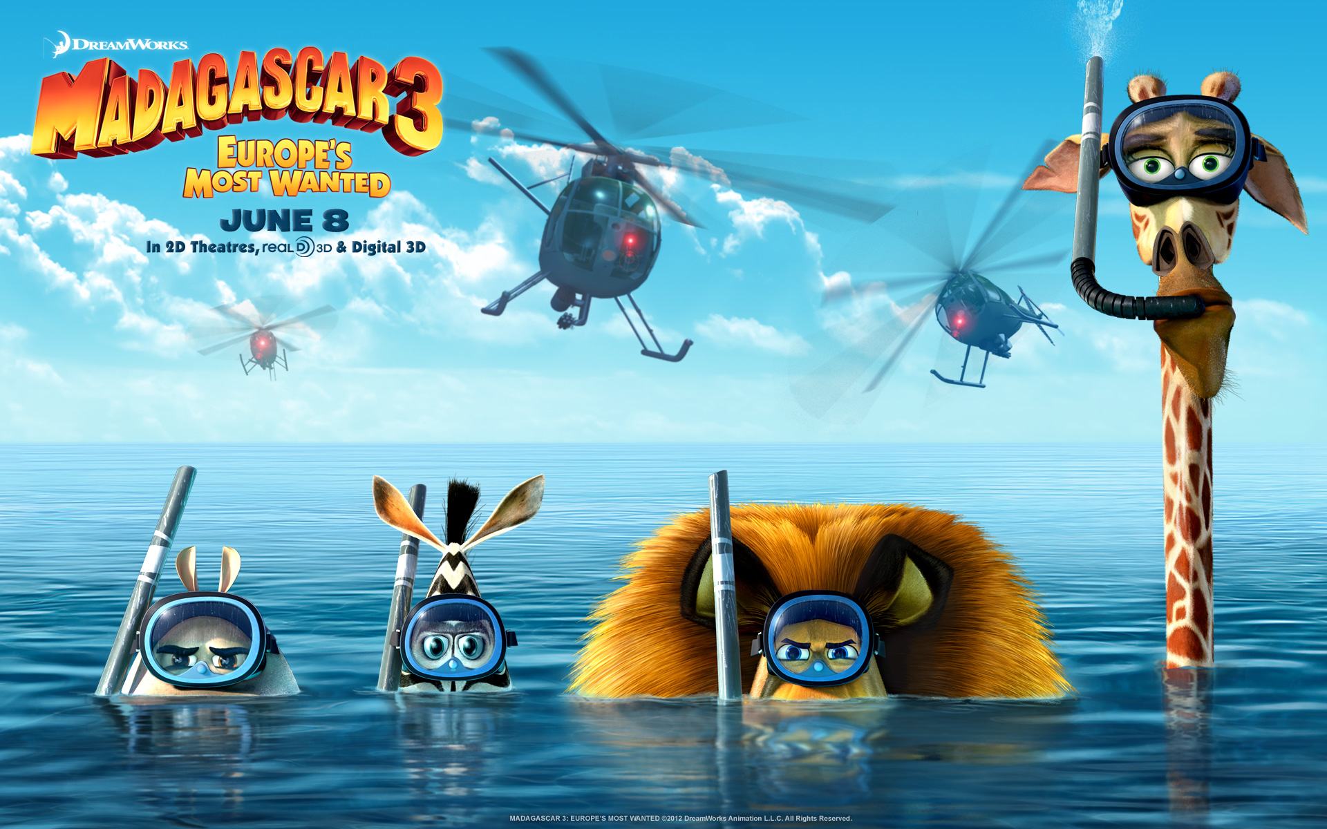 Madagascar 3 2012 Movie wallpaper