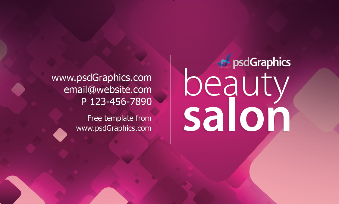 Visiting Cards Backgrounds Beauty Salon Business Card Template Psdgraphics 194938 Wallpaper wallpaper