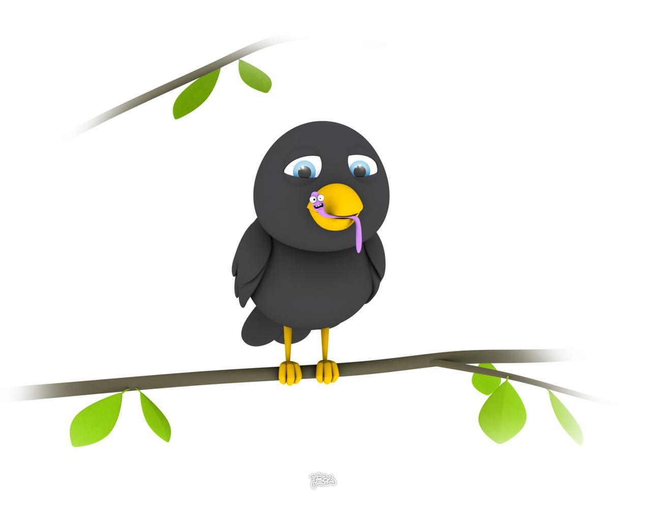 d animal ic funny animals black bird 45447 wallpaper wallpaper