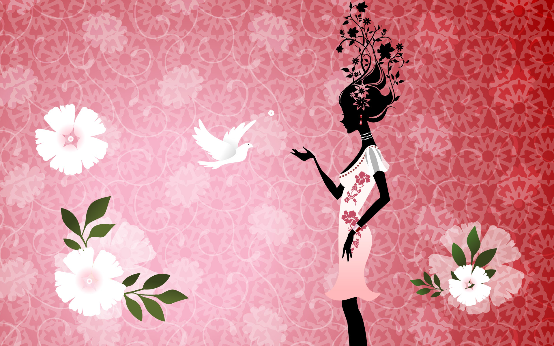 Pink Hd Abstract And Pigeon On Background Desktop 470662 Wallpaper wallpaper