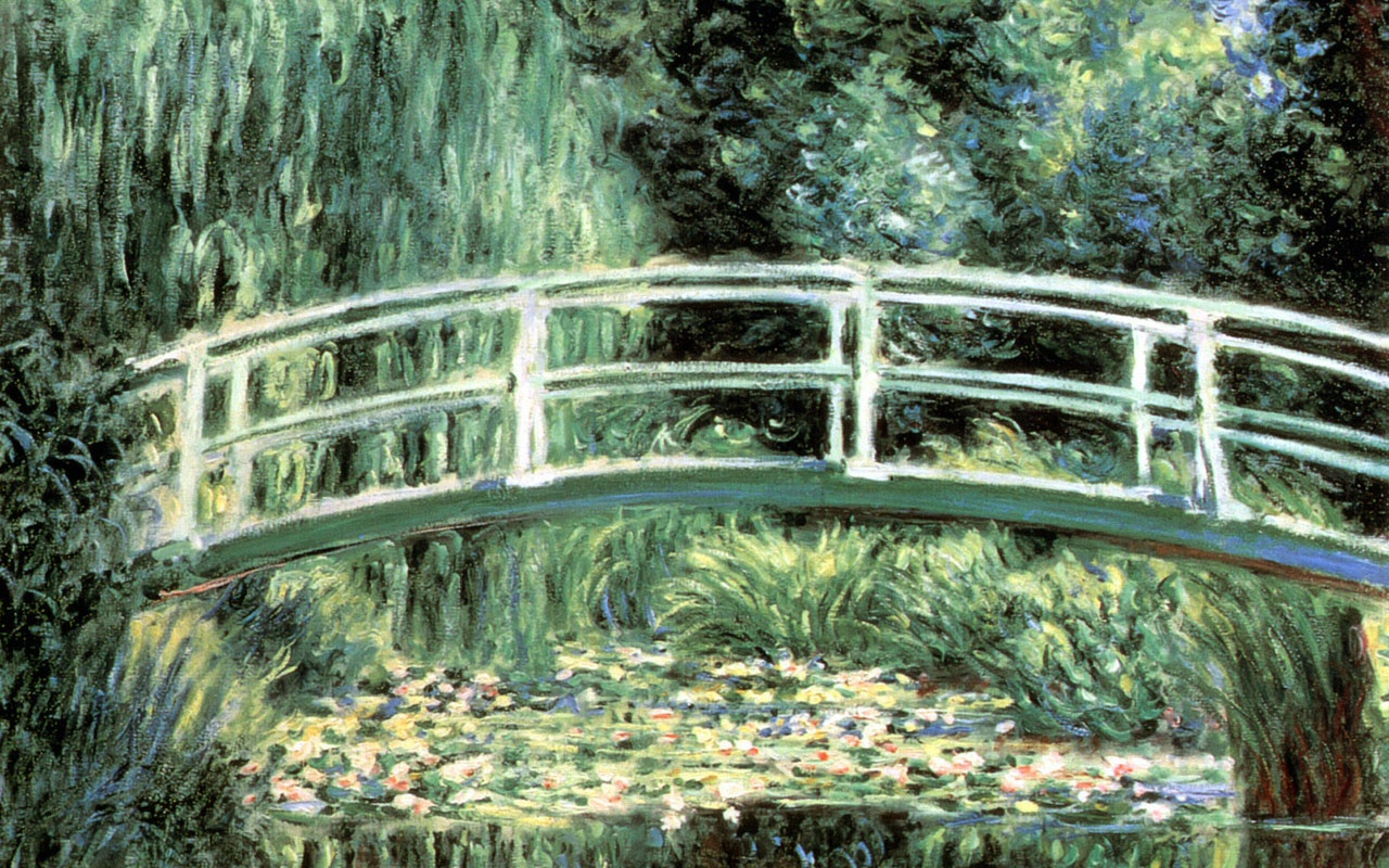 Sailboat Water Lilies And Japanese Bridge Claude Monet Painting 568162 Wallpaper