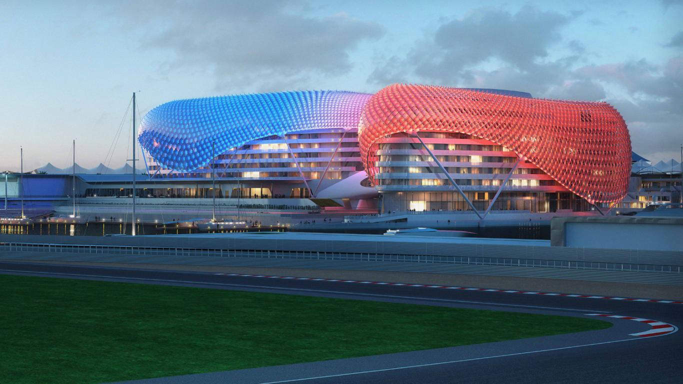 Architecture The Yas Hotel Abu Dhabi By Asymptote Nears Completion 135626 Wallpaper wallpaper