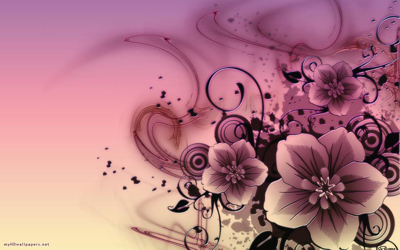 Pink Hd Abstract Flowers Free Desktop 198451 Wallpaper wallpaper