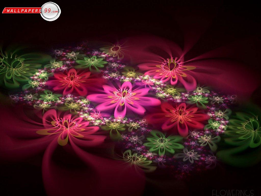 Abstract Fantastic Flowers 100266 Wallpaper wallpaper
