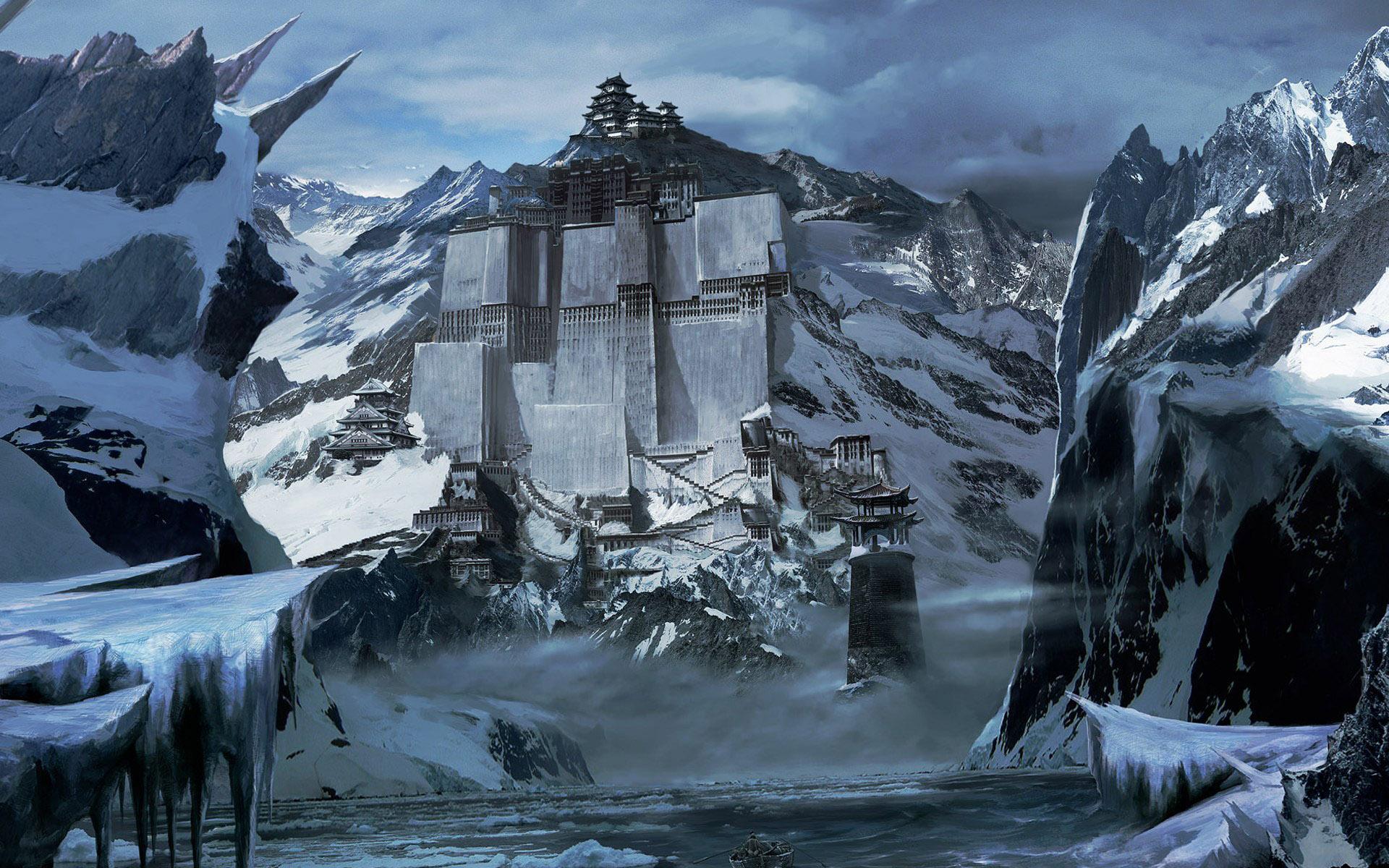 Beautiful Wallpaper Mountain Fantasy - architecture-fantasy-hallway-mountain-paper-photo-621125  Pic_45430.jpg