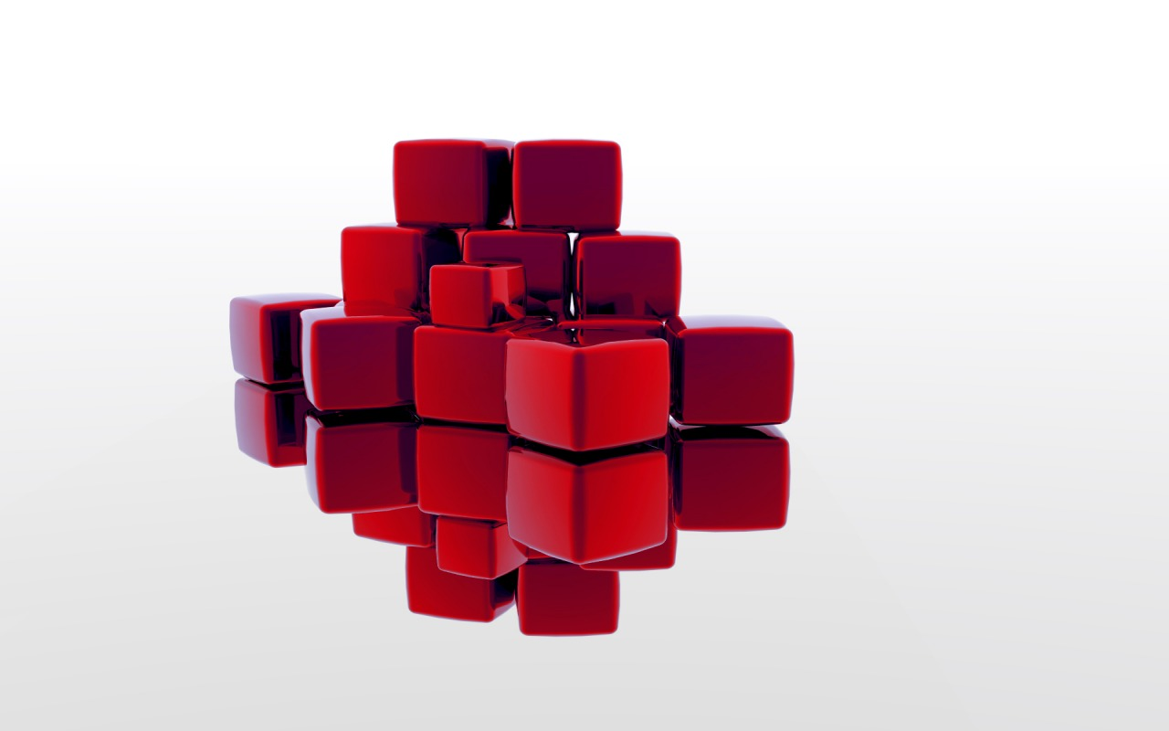 Red Abstract Blocks D 148803 Wallpaper wallpaper download