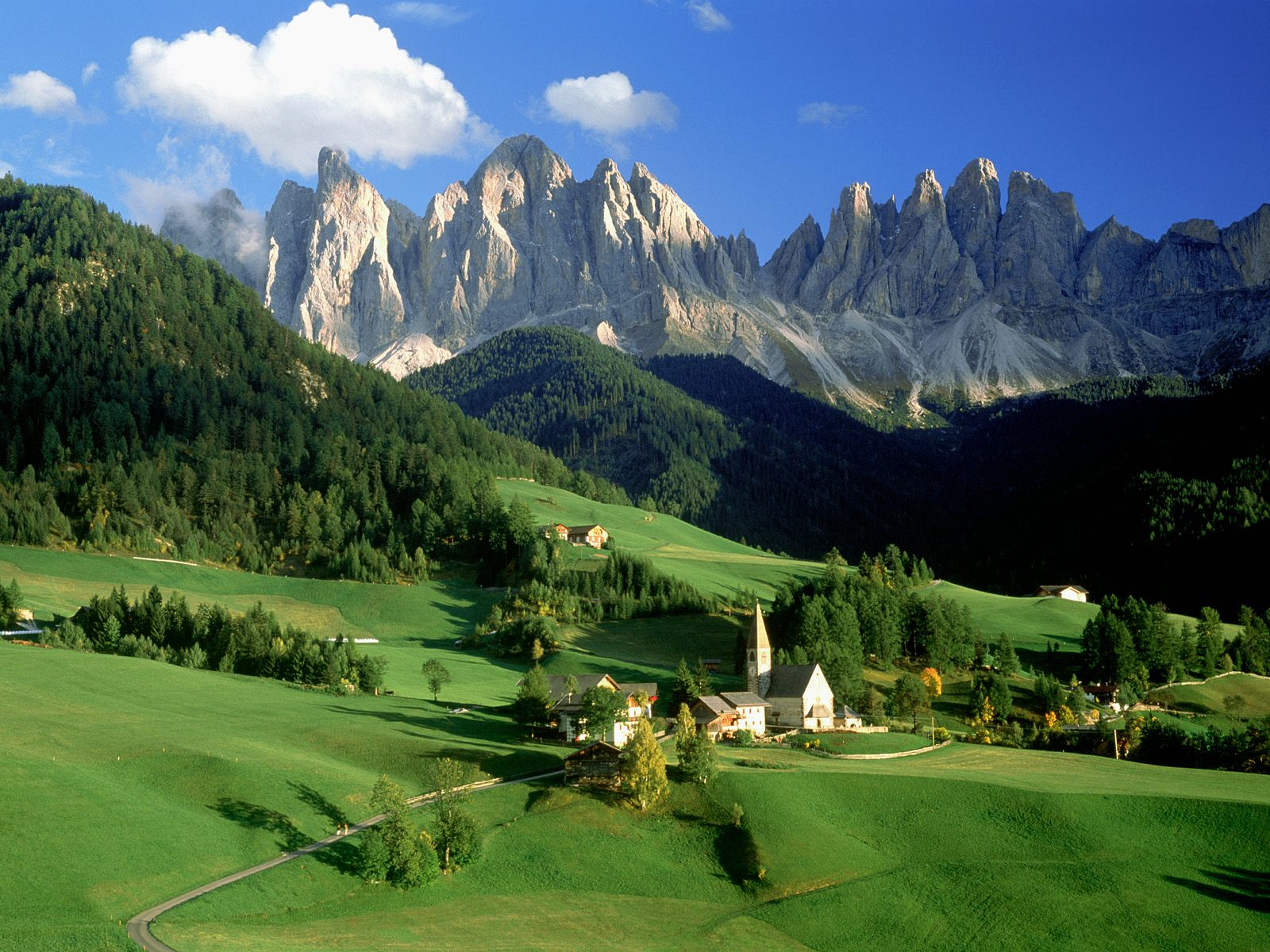 Val di Funes Dolomites Italy wallpaper