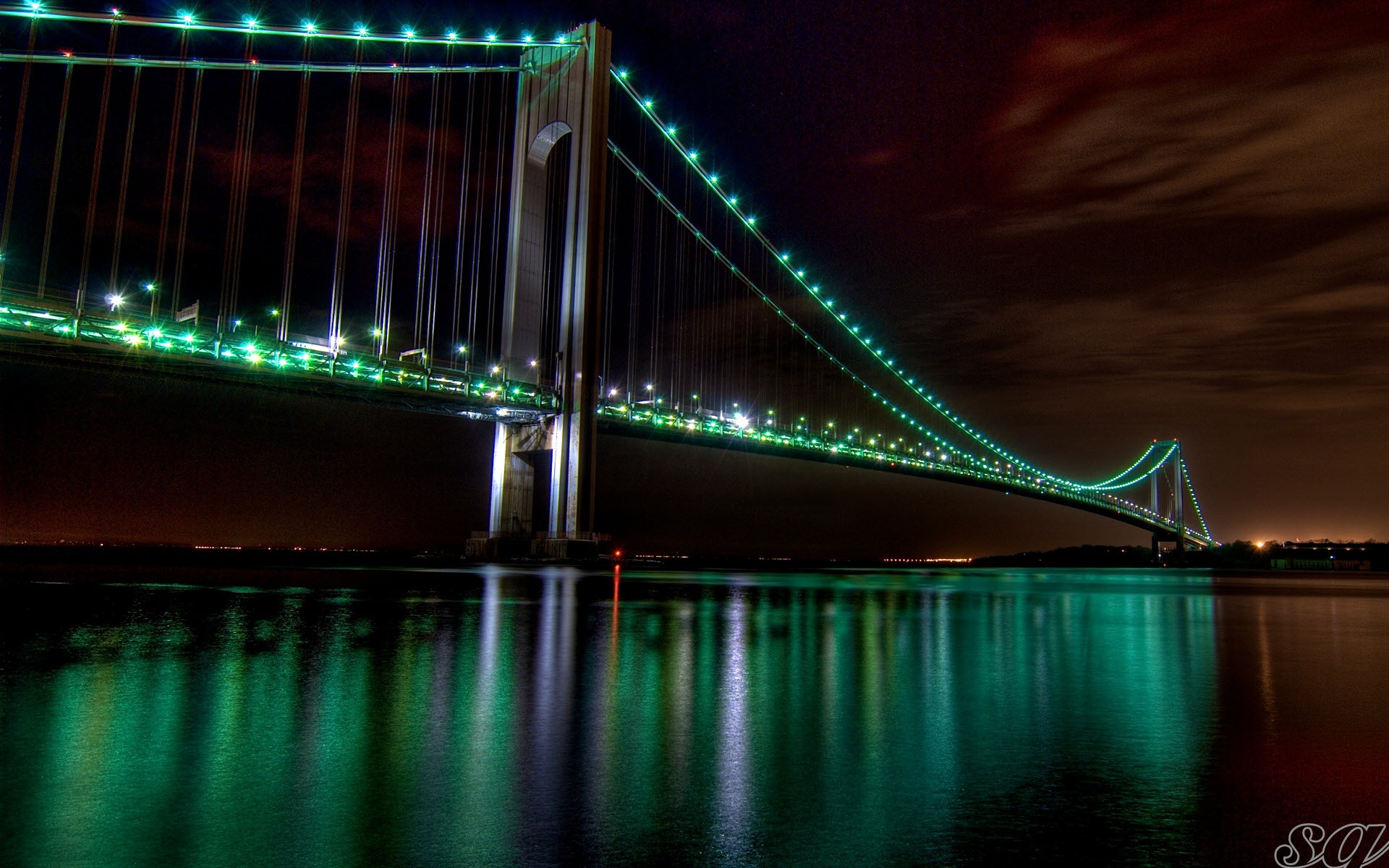 The Golden Gate Bridge Night View wallpaper