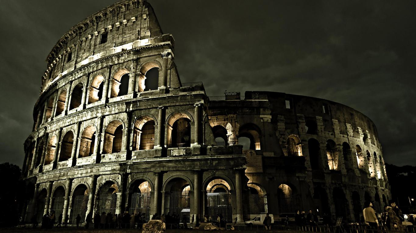 Architecture Roman Night Italy City Pictures 162660 Wallpaper wallpaper