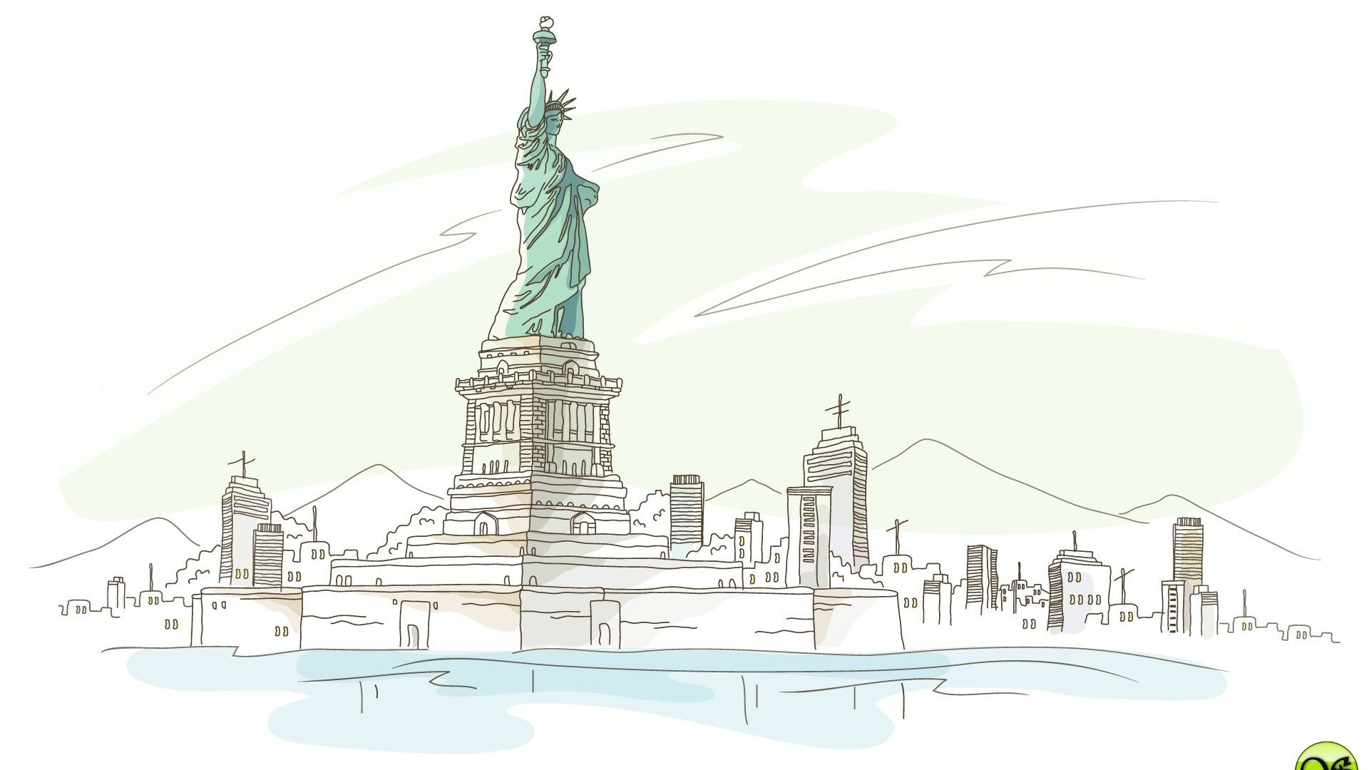 Architecture City Art Liberty Designs Statue 215648 Wallpaper