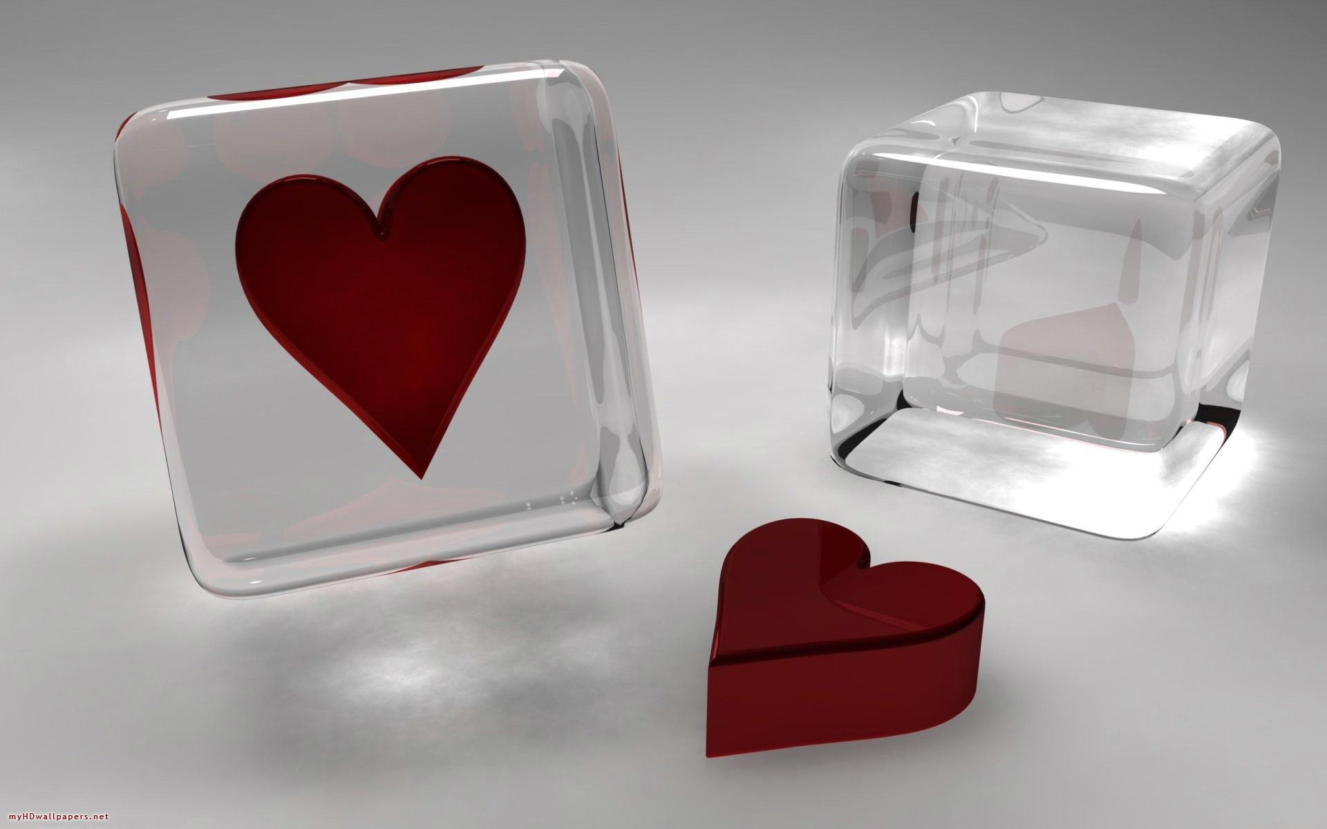 Abstract Transparent In Red And White Glass Hearts Free Hd 143832 Wallpaper wallpaper