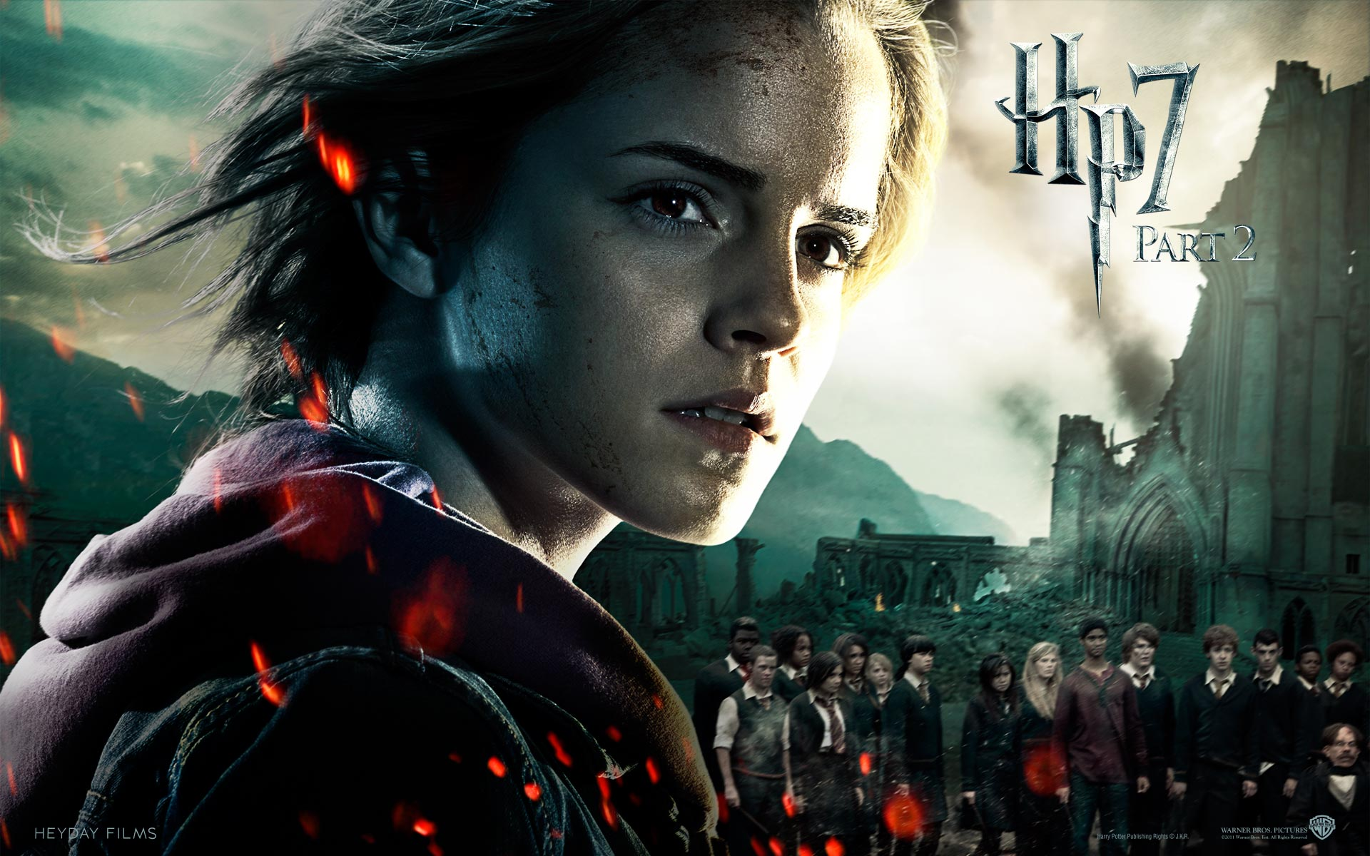 Emma Watson in HP7 Part 2 wallpaper
