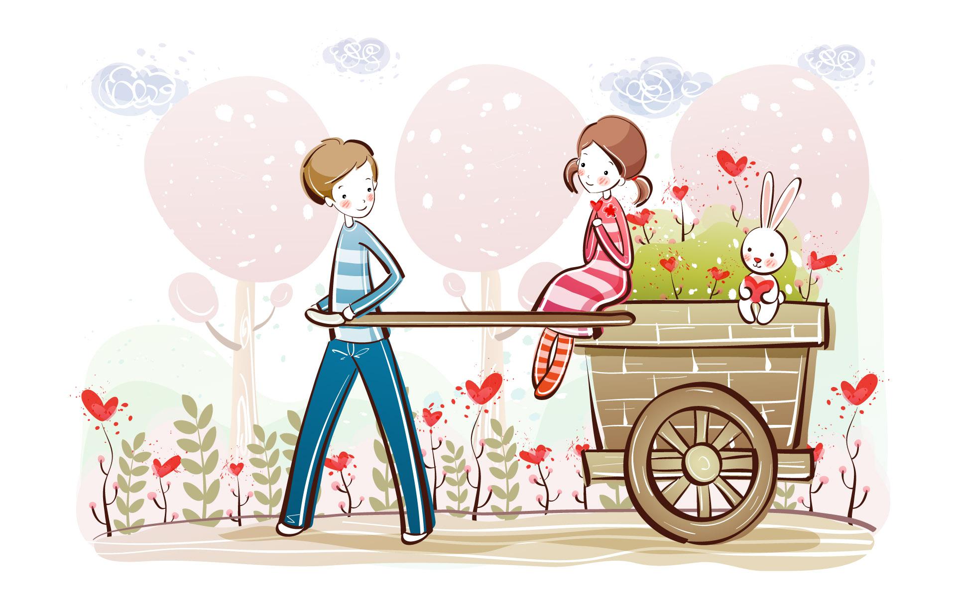 Cartoon Cute Couple Free 390895 Wallpaper Wallpaper