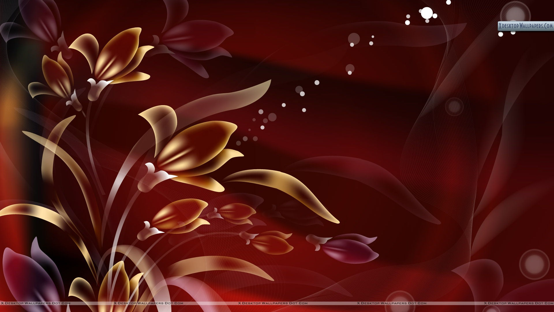 Red Abstract Flowers 215952 Wallpaper wallpaper