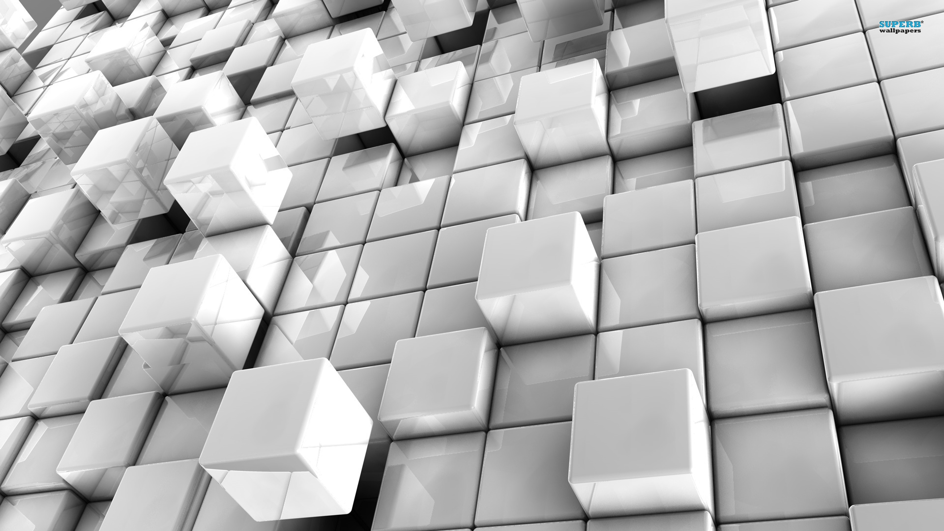 Abstract In White Cubes 402972 Wallpaper