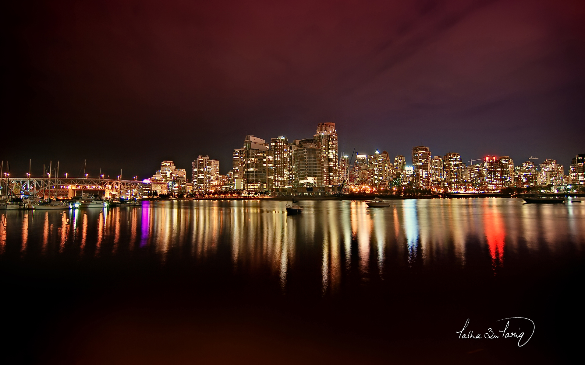 Vancouver City Nights wallpaper download
