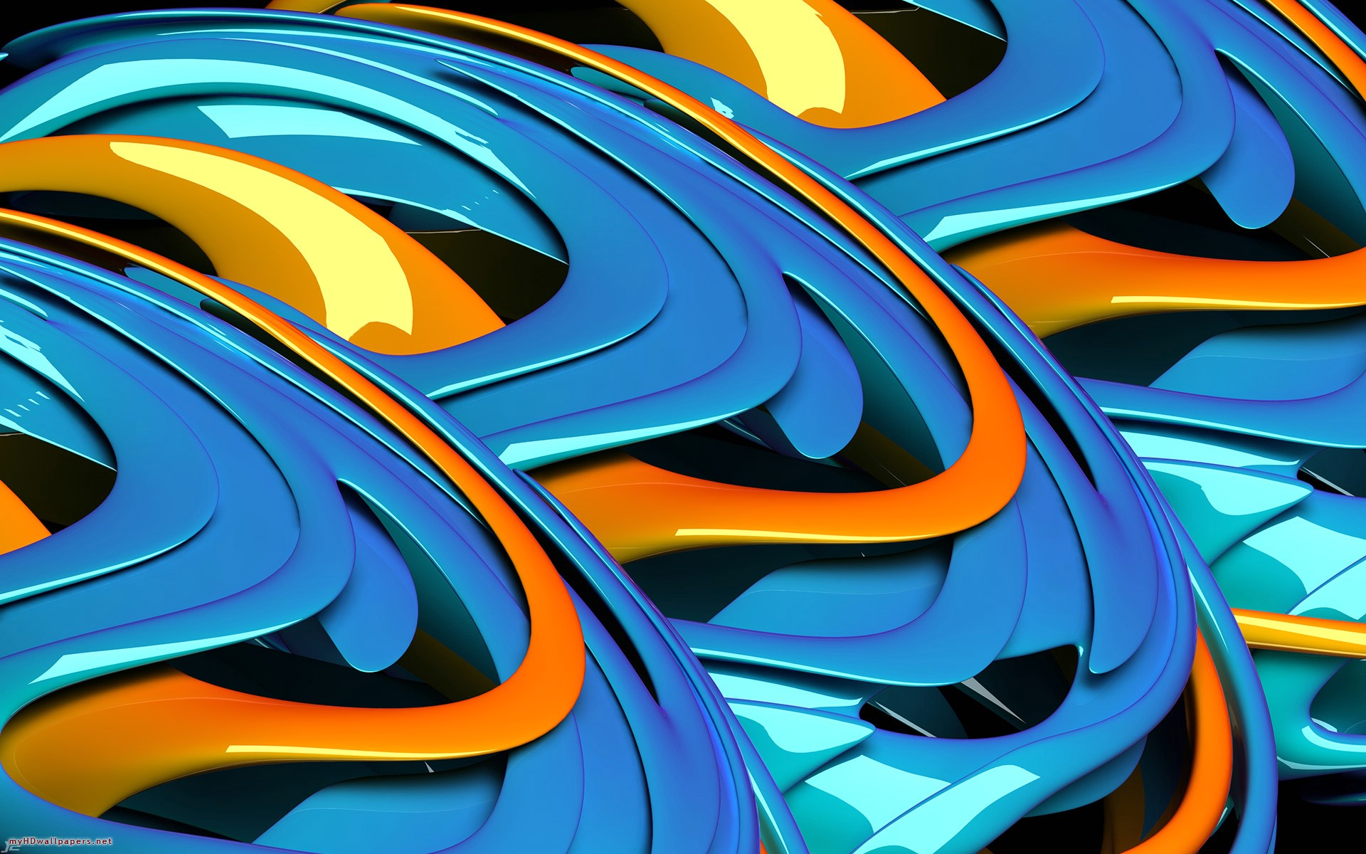 Orange Abstract D Hd Blue Free 435019 Wallpaper