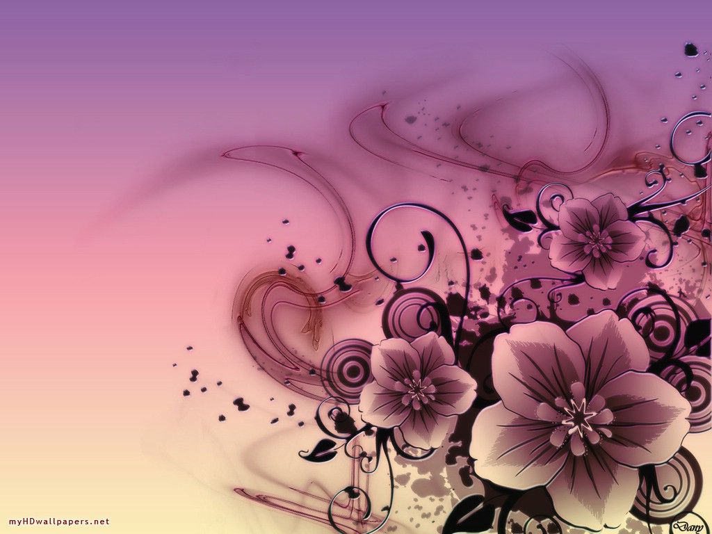 Pink Hd Abstract Flowers X 150681 Wallpaper wallpaper