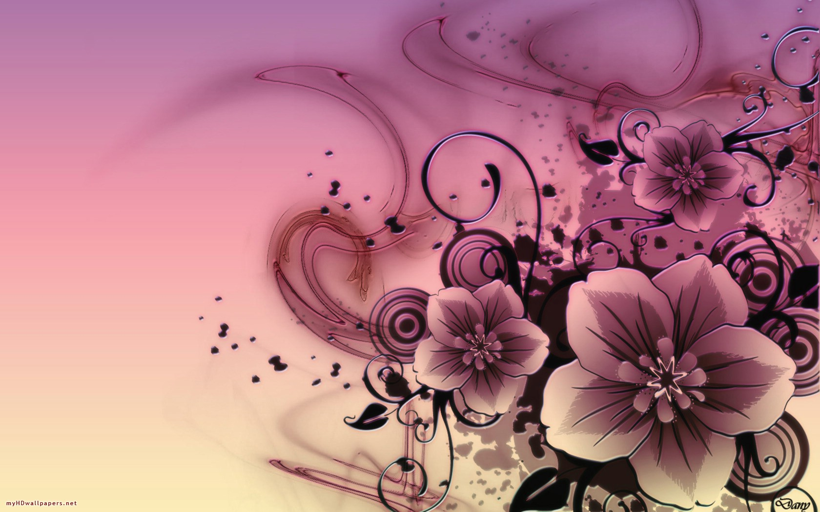 Pink Hd Abstract Flowers X 284118 Wallpaper Wallpaper