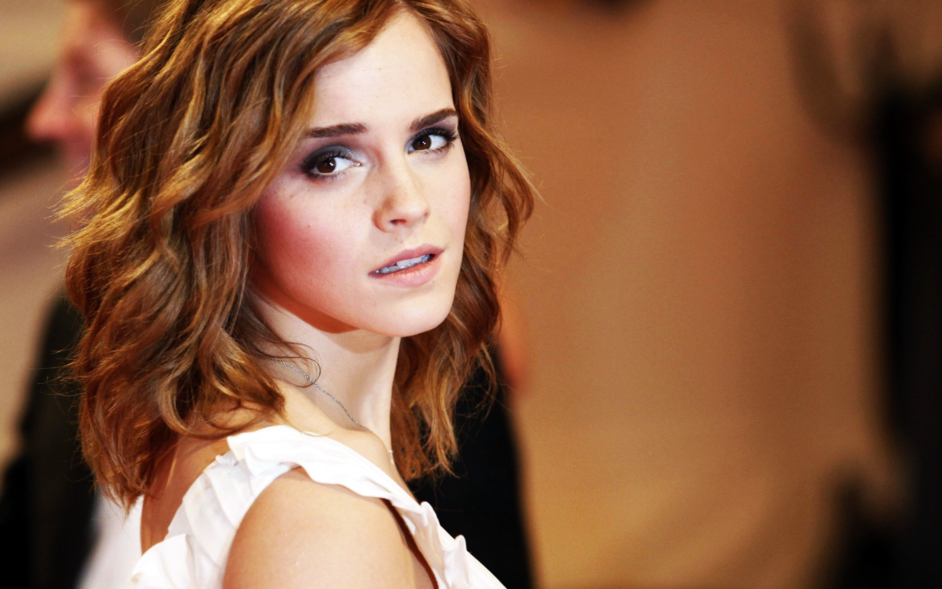 Emma Watson at Metropolitan Muesum 2010 wallpaper