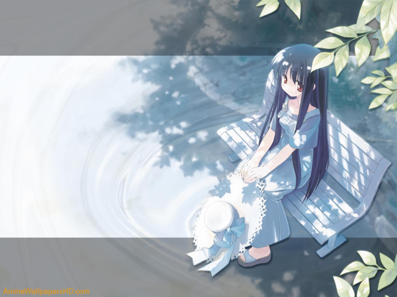 Lonely Anime X Girl 100682 Wallpaper wallpaper