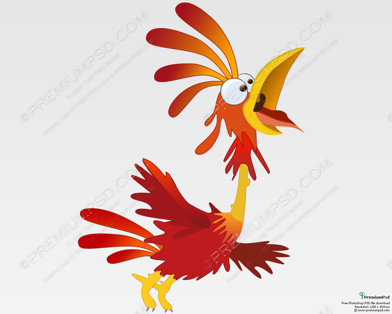 Visiting Cards Backgrounds Red Rooster Cartoon Gn Psd 409445 Wallpaper wallpaper