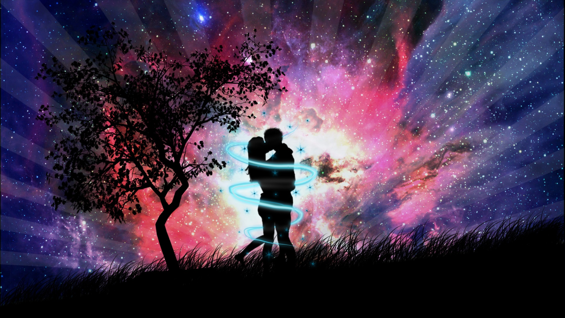Anime Love Couple In The Night 711079 Wallpaper Wallpaper
