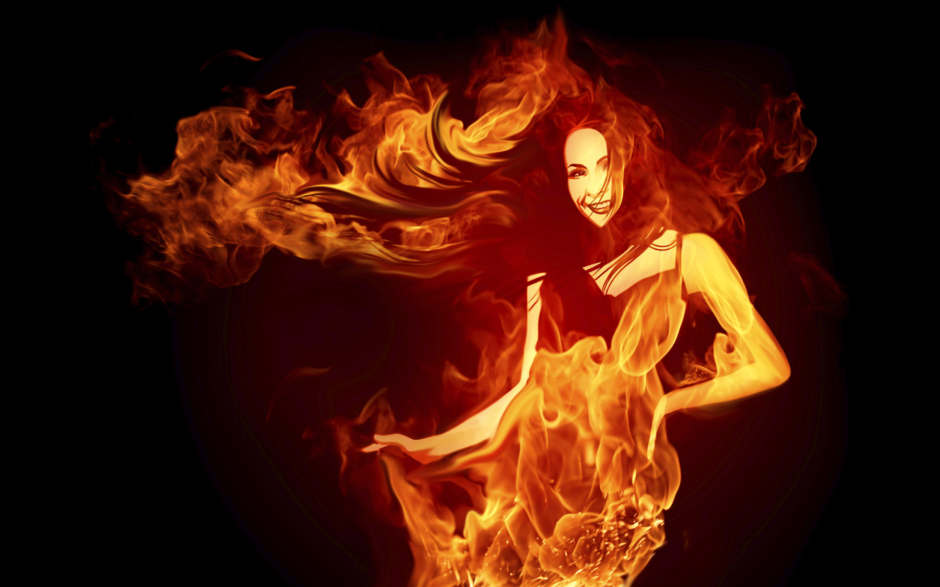 Women With Cars Fire Flames 256346 Wallpaper wallpaper