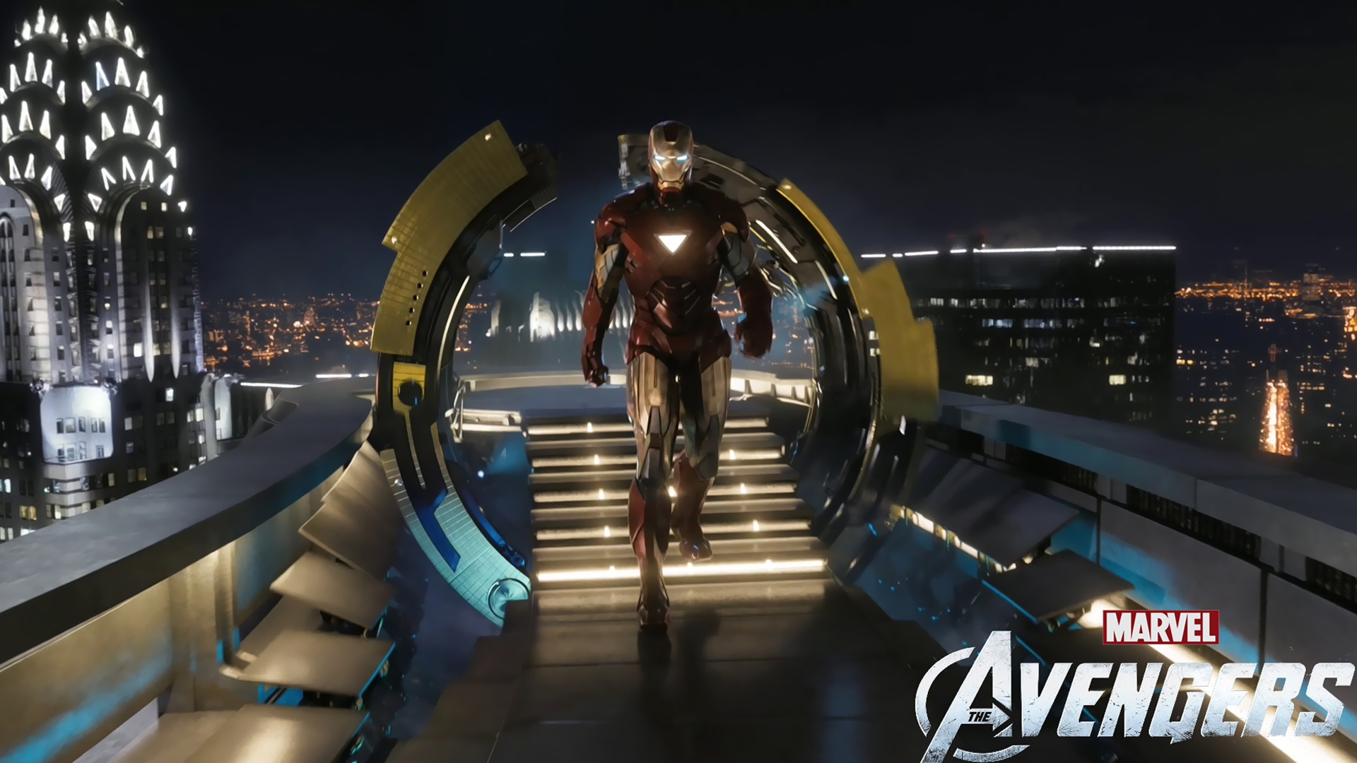 Iron Man In The Avengers Movie Wallpaper