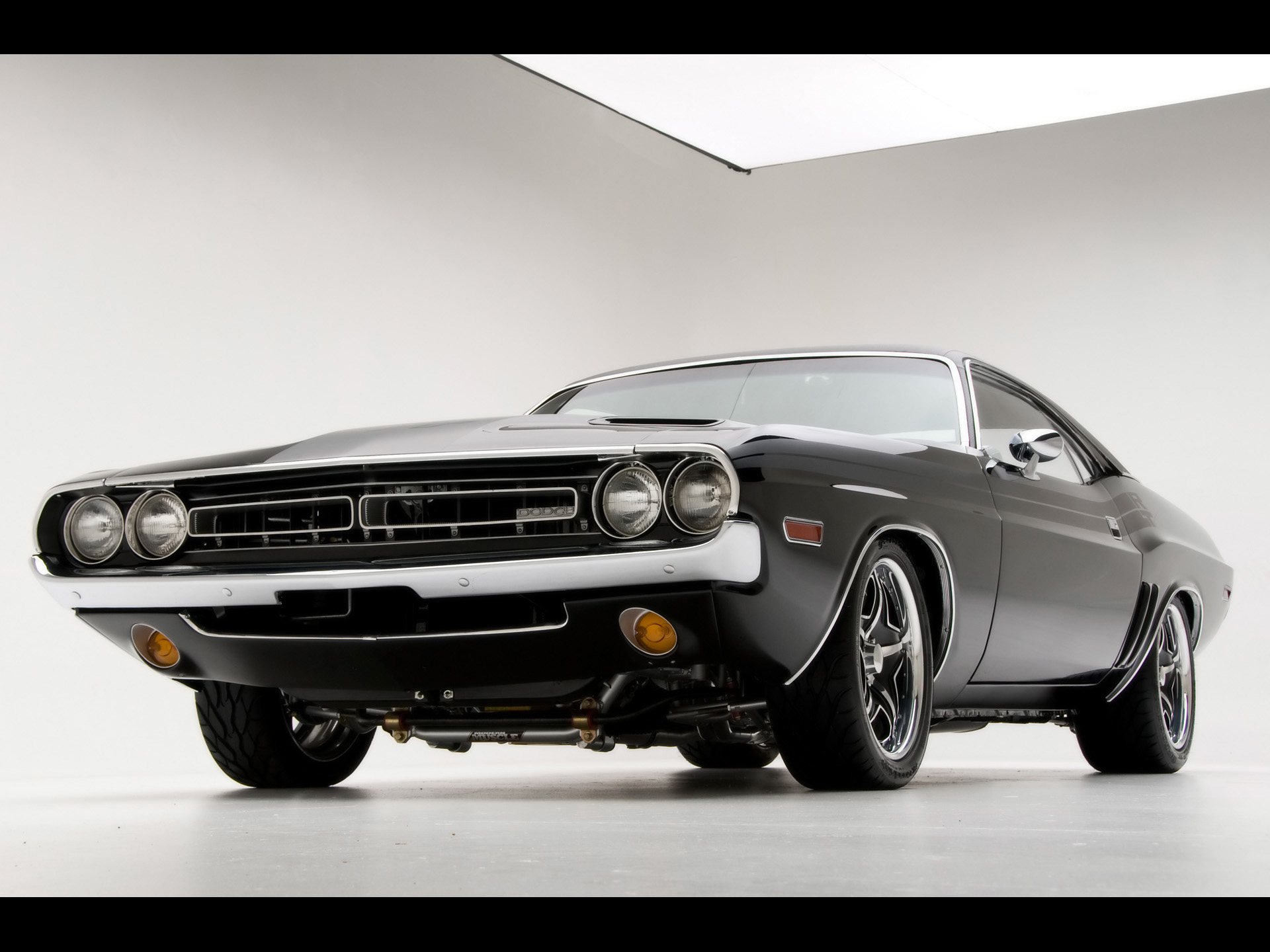 Muscle Cars Dodge Challenger R T Car By Modern Front Angle 346950 ...