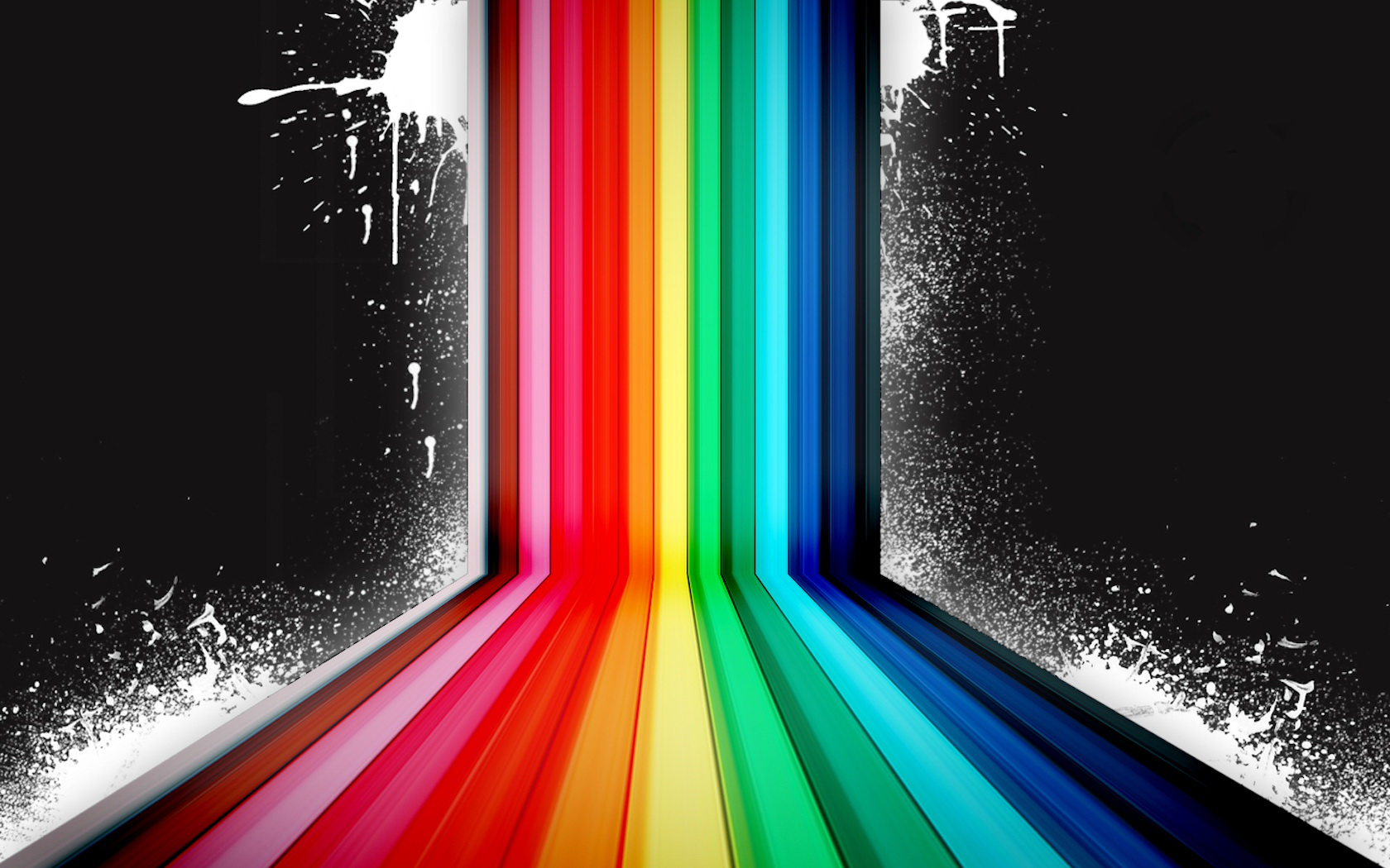 Rainbow Abstract Desktop Backgrounds Hd Art Images Dark