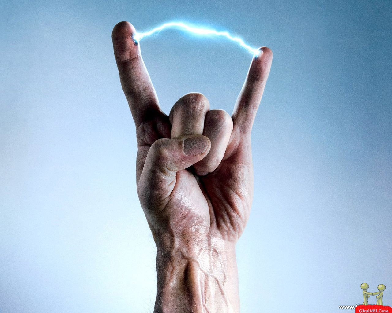 Wonderful Animalls Electric Power Between Two Fingers Funny 240332 Wallpaper wallpaper