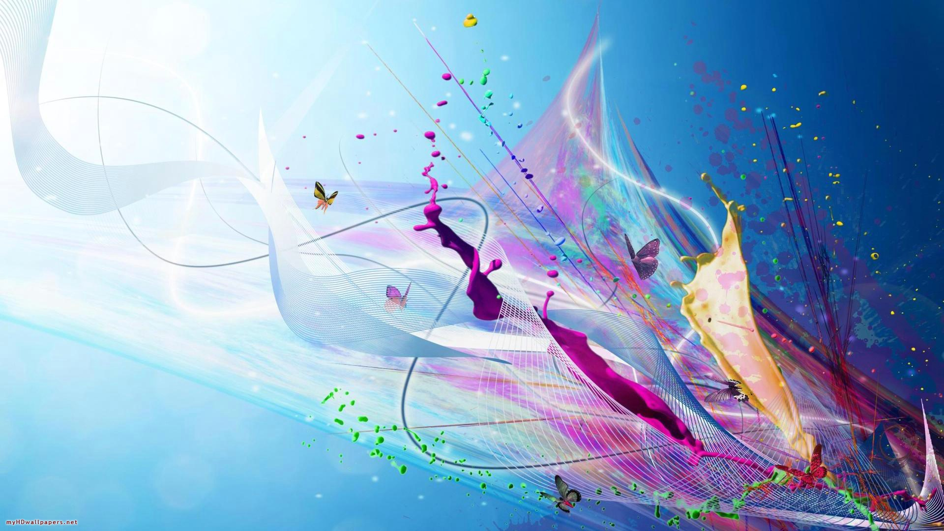 colorful abstract flowers blue free hd 329905 wallpaper wallpaper