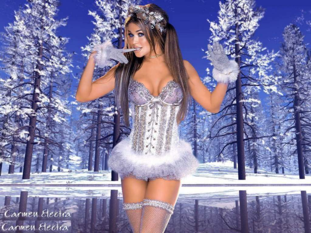 Carmen Electra Winter Lingerie X 127403 Wallpaper wallpaper