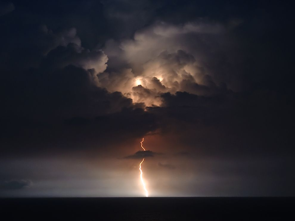 South Carolina Games P O Lightning Over The Sea At Myrtle