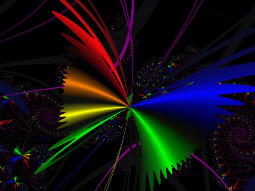 Rainbow Abstract Free Butterfly The 140081 Wallpaper wallpaper