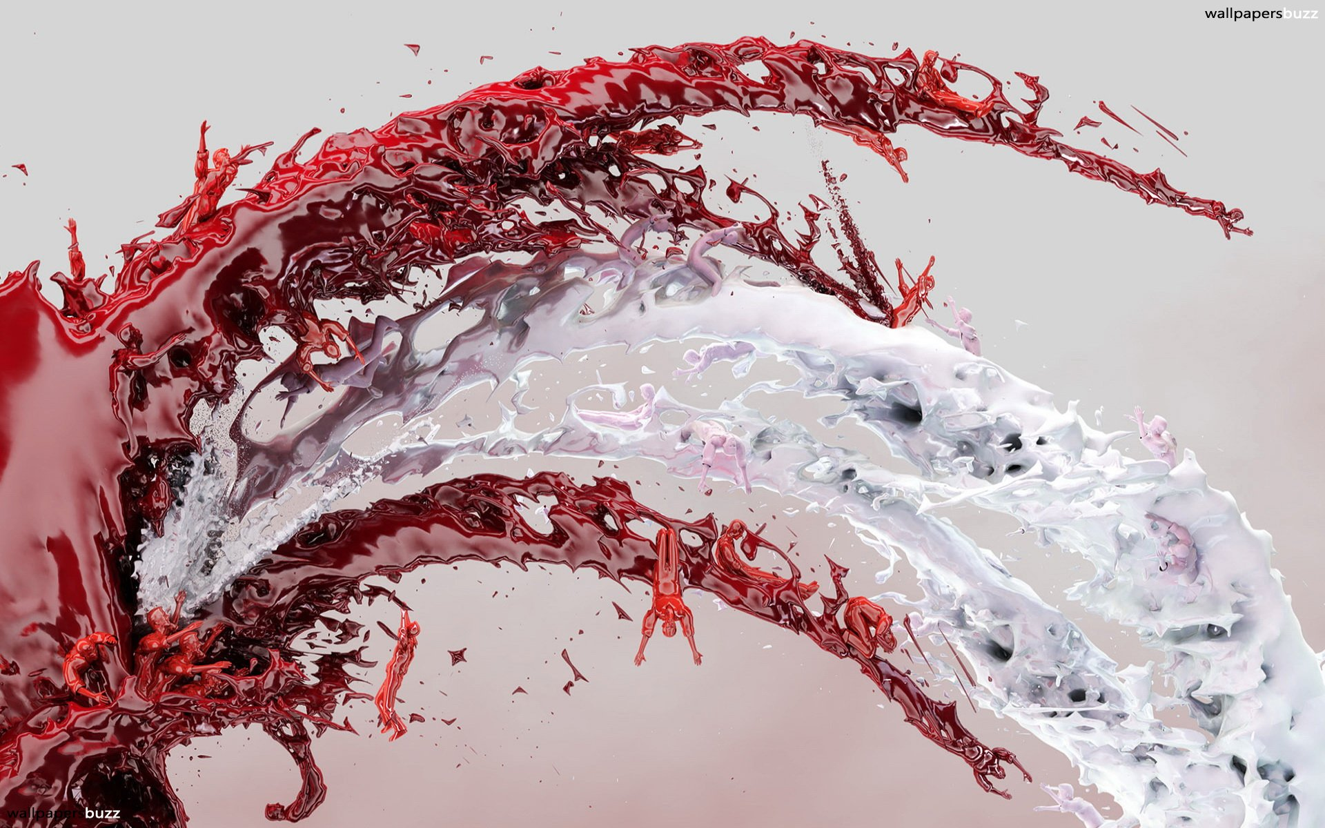 Red Abstract With And White Streams Of Milk Original Size 425458 Wallpaper wallpaper