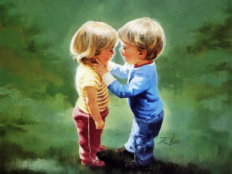cartoon Type Love Wallpaper : Love cartoon children In 79128 Wallpaper wallpaper